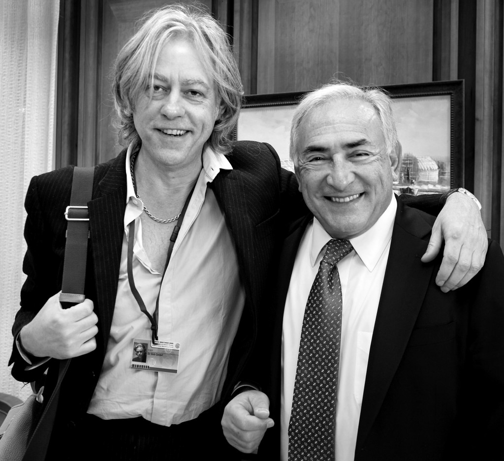IMF Managing Director Dominique Strauss-kahn with Bob Gedoff