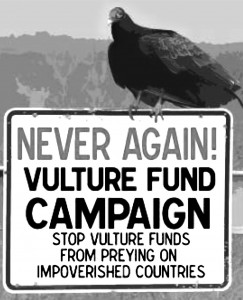 vulture on a sign