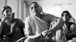 The President of the Lakshminidi Women's MicroFinance Cooperative Society in Niwai, Rajasthan, with leading members of the society. Photo: Austin Yoder.