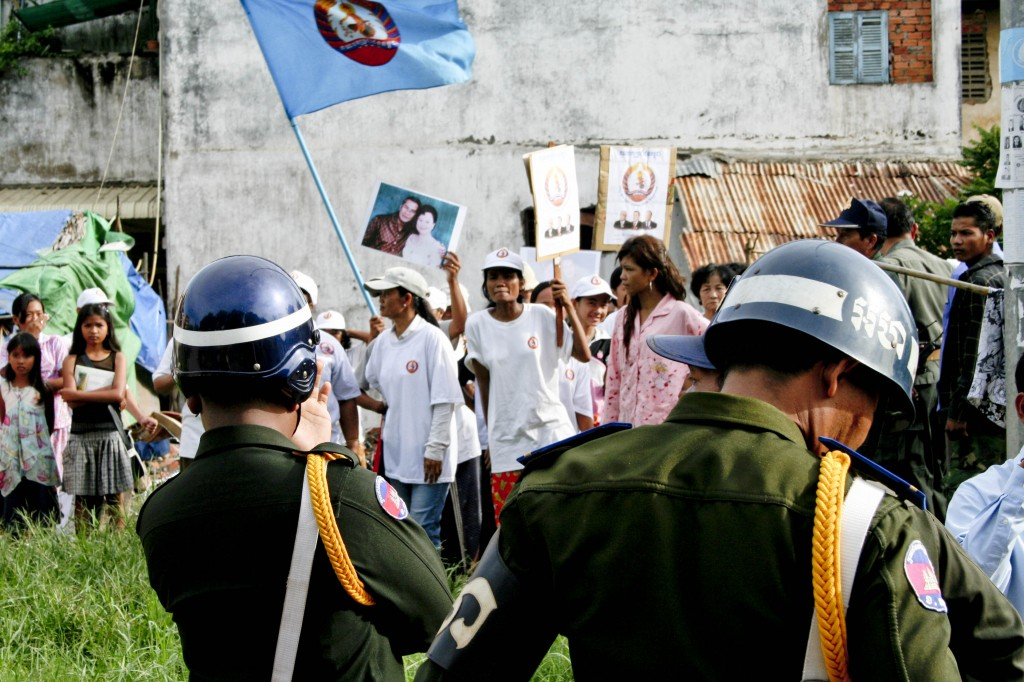 Protest of the threatened communities