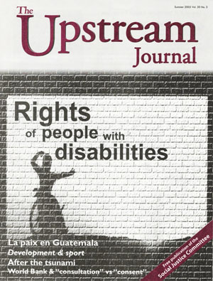 The cover of the 2005 special issue on people with disabilities