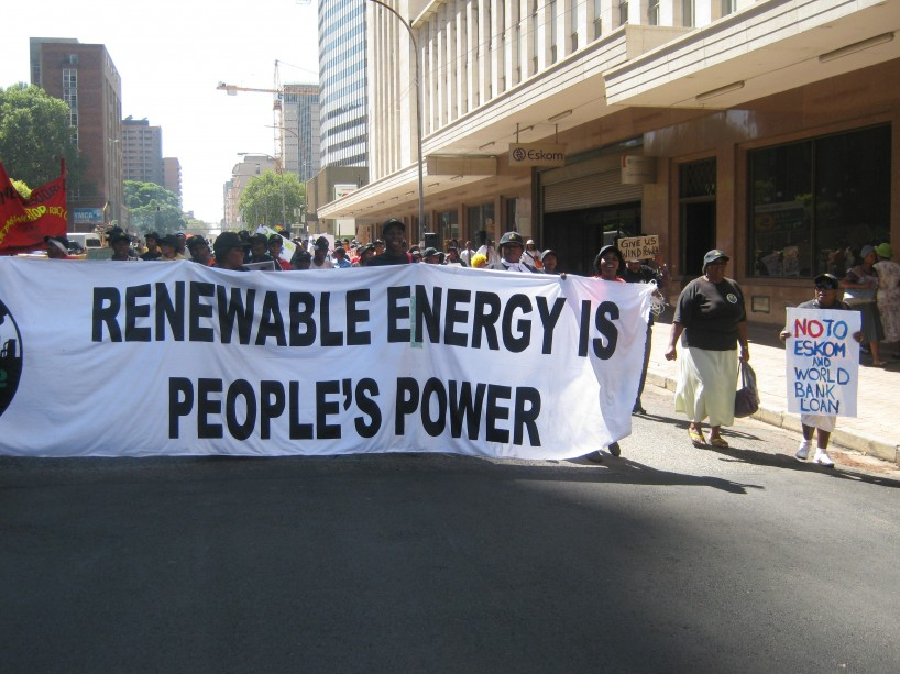 Anti-Eskom protest in South Afrcia. Photo courtesy groundWork