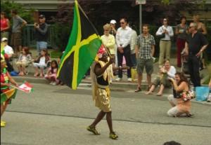 Waving Jamaican Flag (Photograph by- John D. Mcdonald)