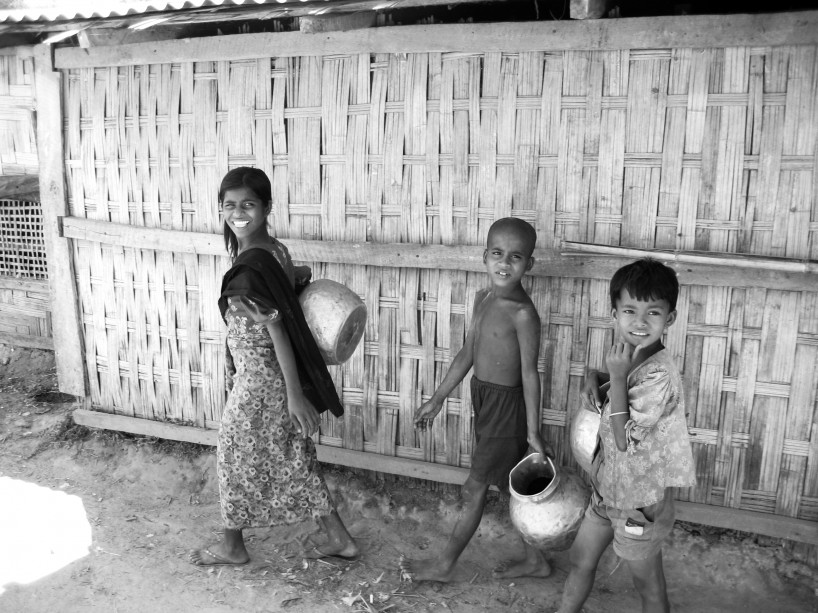 27% of Rohingya children in the Kutu Palong makeshift refugee camp are malnourished. The new government of Myanmar has engaged in a series of reforms toward democratisation, but Rohingya people are disappointed that little has actually changed for them. Forced labour, marriage restrictions, restrictions on movement and arbitrary arrests continue. Photo courtesy Refugees International.