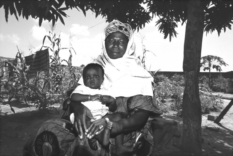 Female Genitale Mutilation:circumciser with mutilated girl.