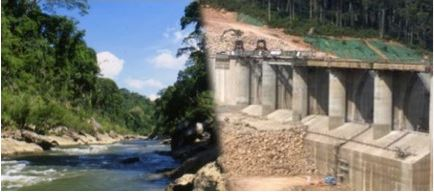Nam Theun 2 Dam (Before and After) Photo by: International Rivers