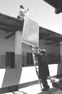 solar panel BW